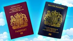 Blue-passport-and-red-passport-on-asky-background.