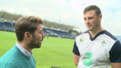 Ricky meets up with Robbie Henshaw and Paul O'Connell ahead at Ireland's training camp