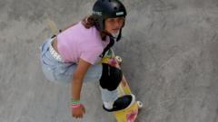 Sky on a skateboard