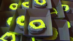 Glow-in-the-dark doughnuts