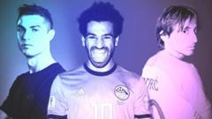 Ronaldo, Salah, Modric