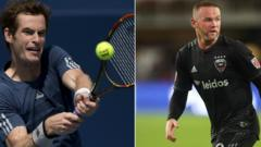 Andy Murray and Wayne Rooney