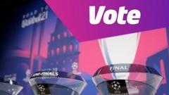 Vote gfx and Champions League trophies
