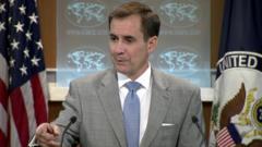 US State Department spokesman John Kirby