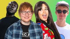 Stormzy, Ed Sheeran, Camila Cabello and Justin Bieber