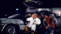 This photo provided by Universal Pictures Home Entertainment shows Christopher Lloyd, left, as Dr. Emmett Brown, and Michael J. Fox as Marty McFly in the 1985 film, 'Back to the Future.'