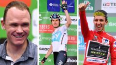 Chris Froome, Geraint Thomas and Simon Yates