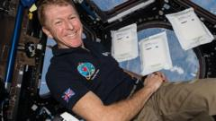 Tim Peake in the ISS