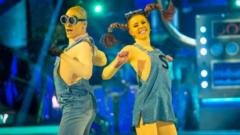 Kevin and Stacey dance as Minions