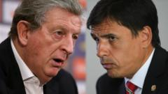 England manager Roy Hodgson and Wales manager Chris Coleman