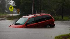 Storm Florence causes flash flooding and storm surges in North Carolina