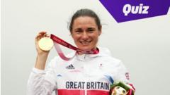 Sarah Storey holding medal