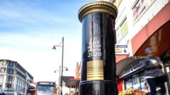 post box painted black