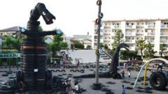 Tire Park playground in Tokyo.