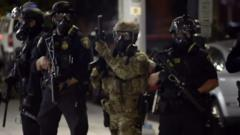 Heavily armed federal agents have been sent to protect buildings in Portland