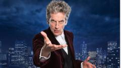 Peter Capaldi playing Doctor Who in the 2016 Christmas special