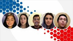 Composite image of five young Latino voters