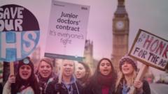 Junior doctors protesting