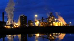 Steelworks in Redcar