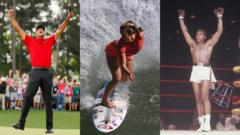 Tiger Woods, Bethany Hamilton and Muhammad Ali