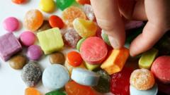 Image of lots of different types of coloured sweets