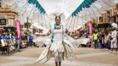 Carnival costume on street of Leeds