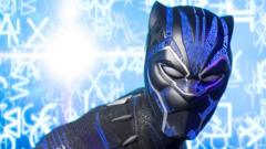 Black Panther waxwork model