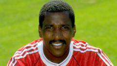 Viv Anderson as Assistant Manager of Middlesbrough.
