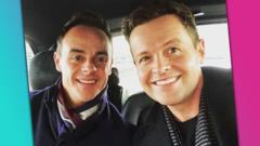 The Instagram post showing Ant and Dec going back to work together.