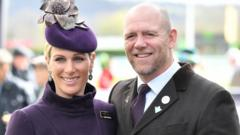 Zara Tindall and Mike Tindall at Cheltenham Racecourse in March 2020