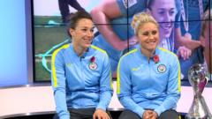Lucy Bronze and Steph Houghton