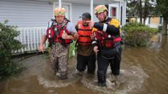 Man rescued in North Carolina