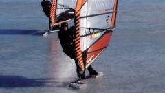 Windsurfers on ice
