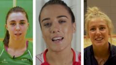 Northern Ireland, England and Scotland netball players.