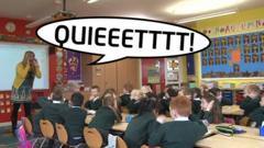Teacher shouting at pupils