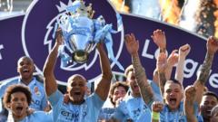 Man City fans celebrate