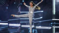 Ellie dancing in the final