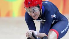 Dame Sarah Storey on the way to winning gold at the Rio Paralympics