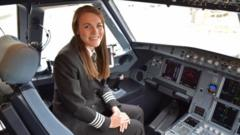 Kate McWilliams pictured in a cockpit