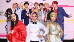 BTS with other singers