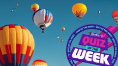 Hot air balloons, quiz of the week
