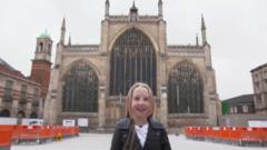 Katie by the Cathedral