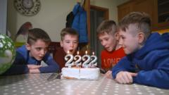 Brothers Zach, Rueben, Josh and Sam are quadruplets who were all born on the 29th February.