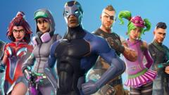 A series of colourful characters are shown in this Fornite promotional image