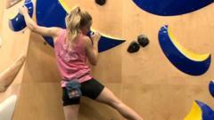 Shauna Coxsey climbing.