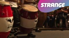 Bongo drums and the strange logo