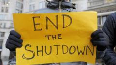 Sign saying 'End the Shutdown'