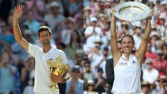 Djokovic and Kerber win Wimbledon final