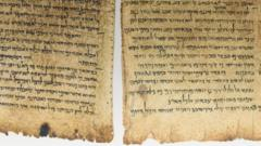Fragment of Dead Sea Scrolls manuscript