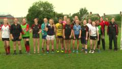 a girl's rugby training camp